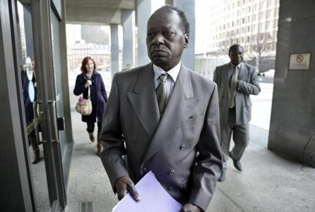 Onyango Obama, President Obama's Kenyan-born uncle, arrived at US Immigration Court for a deportation hearing.